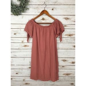 Dresses & Skirts - NWT TIE SLEEVE BURNT ORANGE DRESS SIZE SMALL